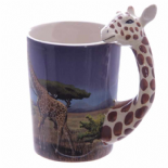 Giraffe Shaped Handle Mug